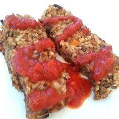 Brown Rice & Lentil Loaf. Vegan.