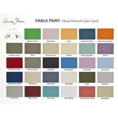 Printed color card for Chalk Paint™ decorative paint featuring colors of Annie Sloan Chalk Paint. E-CP Color Card