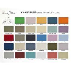 Annie Sloan Chalk Paint™ Color Card | Royal Design Studio