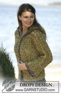 DROPS Crochet cardigan in Eskimo ~ DROPS Design