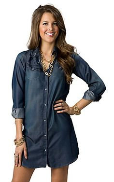 Cowgirl Hardware Denim Dress $64.00