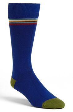 Paul Smith Accessories Stripe Trim Socks available at #Nordstrom