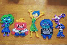 Pixar's Inside Out perler beads  by kupkakekhaos