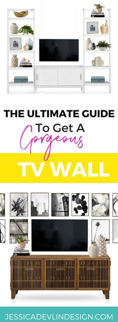 How to Decorate Around Your TV Like a Pro | Tv wall decor, Tv walls ...