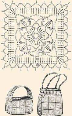Lavorando nel nuomero giusto la mattonella dello schema, seguendo i disegni, possiamo realizzare questi due modelli di borse davvero o...