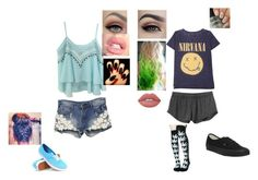 """""""summer day"""" by thomas-patricia on Polyvore featuring Vans, RVCA, HUF and Lime Crime"""