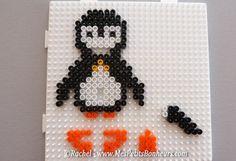 Modèles de pingouins 3D en perles à repasser – Bricolage thème banquise