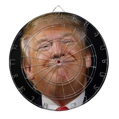 Donald Trump Dartboard - tap to personalize and get yours  #donald #trump #shoot #dartboard #darts Dartboard Diy, Custom Dart Board, Custom Playing Cards, Cornhole Set, Donald Trump, Darts, Latin America, North America, Moma Art