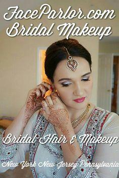 Top Indian bridal makeup artist new york city long Island new Jersey Queens Poconos faceparlor.com #indianbride #bridalmakeup #nycwedding #faceparlor ...