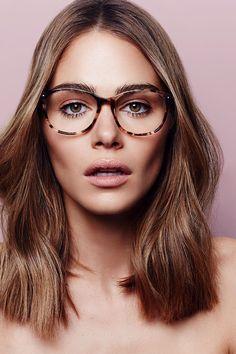 Maripier Morin X BonLook Nadine Pink Tortoise glasses