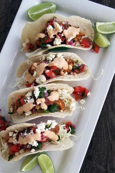 Baja Fish Tacos with Chipotle Crema | My Life as a Mrs - served with Greek yogurt, napa cabbage, and pico. They were DELISH!!!