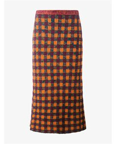 MIU MIU | Check Wool Mohair-Blend Pencil Skirt