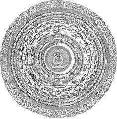 Chakra of Liberation through Wearing. Revealed by Rigdzin Jigme Lingpa as part of Longchen Nyingthig terma cycle . Weaving Art, Loom Weaving, Mandala, Buddha Painting, Golden Flower, Flower Ornaments, Buddhist Art, Symbol Logo, Tantra