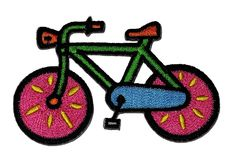 Cute Bicycle DIY Applique Embroidered Sew Iron on Patch p227 * Read more reviews of the item by visiting the link on the image.