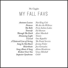 FALL in love playlist - spotify fall playlist featuring Coldplay, Sara Bareilles, Lykke LI, and more! for your and melodies Lit Songs, Mood Songs, Music Songs, Fall Playlist, Spotify Playlist, Sara Bareilles, Coldplay, Music Mood, New Music