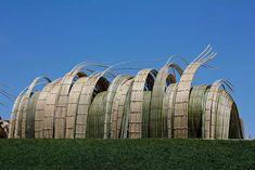 Kizuna: West Meets East exhibition at Denver Botanic Gardens 2012 - Tetsunoir Kawana / Stephen Talasnik woven bamboo sculptures
