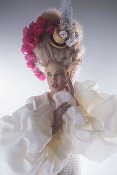 """Lindsey Wixson in """"Couture's Flights of Fancy"""" photographed by Karl Lagerfeld for Harper's Bazaar US April 2014 issue"""