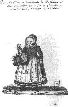 Anna Kolm, drawn by her father Jan Sijwertsz. Kolm 1625