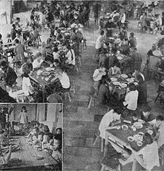 Dining hall at a Commune