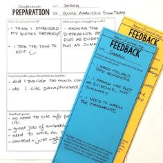 Make your students responsible for the feedback you give them.