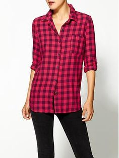Splendid Newberry Gingham Button Down Top | Piperlime... Perfect for Fall
