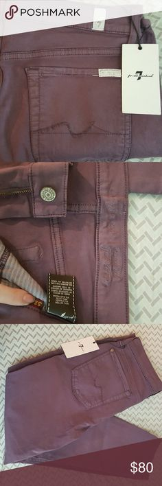 7 for all mankind purple skinny jeans Size 32 eggplant purple in cropped Guinevere 7 For All Mankind Pants Skinny