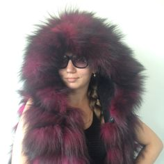 Bolero jacket coat hood fur   fox