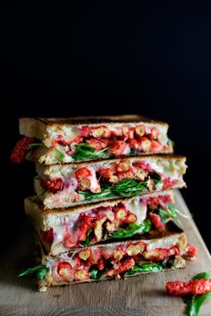 Flaming Cheetos Arugula Grilled Cheese