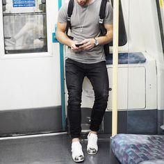 Gray t shirt #biker denim and @adidasoriginals #sneakers by @aligordon89 [ http://ift.tt/1f8LY65 ]