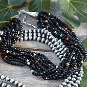 10 strand black onyx necklace...and navajo sterling silver pearls too please