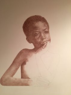 Slave child from Charleston, SC, c. 1861 - one of the Beloved: Legacy of Slavery collection by Mary Burkett - about halfway completed.