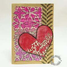 How to Create an Upcycled Valentine With TCW Stencils