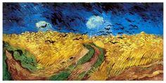 Campo de trigo com corvos - Van Gogh
