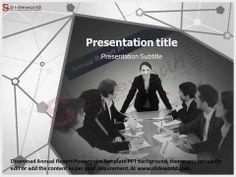 Annual Report PowerPoint Template - slideworld.com