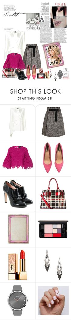 """""""conley_esperanzaj-brownshuga"""" by conley-esperanzaj1957 ❤ liked on Polyvore featuring Alexander McQueen, Costarellos, H&M, RED Valentino, Diophy, Jay Strongwater, Yves Saint Laurent, GUESS, BOSS Black and SoGloss"""