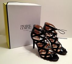 Love! Love! Limited Edition Black Prabal Gurung for Target Lace-Up Heels! Size 8.5, $59.99