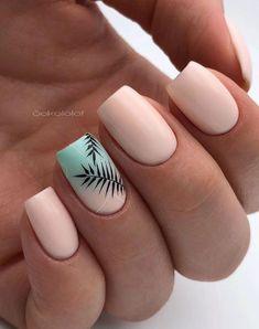 60 natural short square nail design ideas for summer nails - page 3 . - 60 natural short square nail design ideas for summer nails – page 34 of 60 – fa … - Square Nail Designs, Short Nail Designs, Nail Art Designs, Acrylic Nail Designs For Summer, Nail Art Ideas For Summer, Best Nail Designs, Simple Nail Designs, Nail Polish, Gel Nails