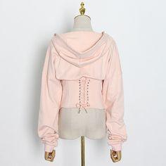 Cheap Hoodies, Sport Fashion, Hooded Sweatshirts, Corset, High Waist, Bell Sleeve Top, Lace Up, Ruffle Blouse, Tunic