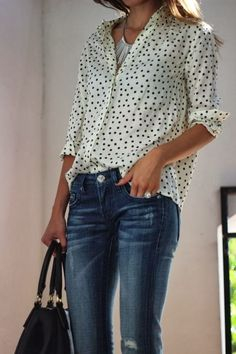 #Shirts #Polka dot Chic