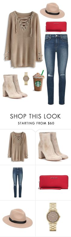 """""""Untitled #181"""" by bajka2468 on Polyvore featuring Chicwish, Gianvito Rossi, Paige Denim, Michael Kors, Lack of Color and Marc by Marc Jacobs"""