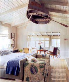 Design Chic: In Good Taste: Jeffrey Alan Marks - love the hanging boat