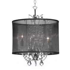 Designer 3-light Polished Chrome Crystal Mini Chandelier | Overstock.com Shopping - The Best Deals on Chandeliers & Pendants