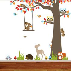 Nursery Vinyl Wall Decal Sticker Forest by nurserywalldecal, $135.00