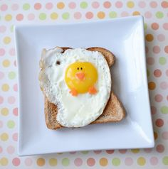 #food #foodie #breakfast ♥ Food Art: An Easter Breakfast For Kids -