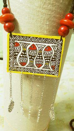 অরুণিমার গয়নাঘর এর মধুবনি Textile Jewelry, Fabric Jewelry, Wooden Jewelry, Clay Jewelry, Teracotta Jewellery, Indian Arts And Crafts, Ornaments Design, Handmade Jewelry Designs, Jewelry Patterns