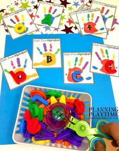 Preschool Alphabet Activities - All About Me Binder