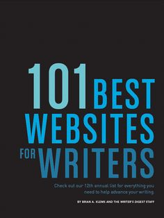 101 Best Websites for #Writers. Honored to receive the award for the past 5 years. Thanks again, @Carrie Mcknelly Butler, Author's Digest!