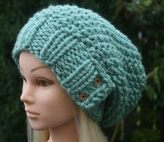 Very soft slouchy beanie hat Women's knitted hat with
