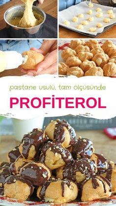 Profiterol Recipe with full consistency measure always GUARANTEED RESULT :) the to Source by hosepyayla Profiteroles Recipe, Game Night Food, Pasta Cake, Homemade Candies, Iftar, Turkish Recipes, Chocolate Recipes, Catering, Bakery