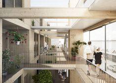 JAJA Wins Second Prize for Swedish Housing and Market Hall Hybrid,Circulation. Image © JAJA Architects